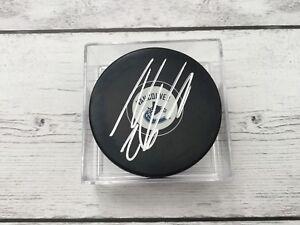 Thomas Vanek Autographed Signed Vancouver Canucks Hockey Puck b