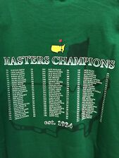 NWT Masters Tshirt Small S Golf 2016 Augusta National Green NEW Champions