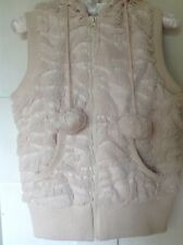 Ladies Nude Super Soft Hooded Gilet size 12 NEW