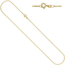 Cadena Plata GENUINA bañado en oro 1,3mm 42cm collar