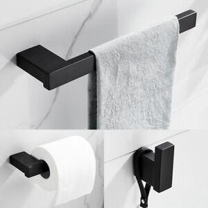 3Pcs Bathroom Accessory Set Toilet Roll Holder & Towel Holder & Robe Hook  //