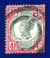 1892 SG206 4½d Green & Carmine K34(1) Fair Used CV £45 ayjj