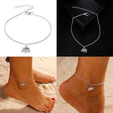 Ep_ Women Elephant Pendant Anklet Ankle Bracelet Beach Barefoot Jewelry Gift Flo