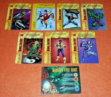 OVERPOWER Heroes for Hire SET hero 6 sp 1 Marvels Iron Fist Hulk White Tiger