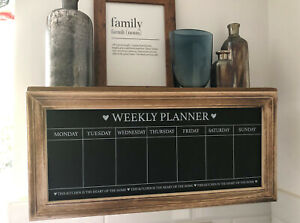 LARGE COUNTRY CHARM SHABBY CHIC CHALKBOARD WEEKLY PLANNER