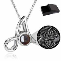26 Letters Necklace 100 Languages Light I Love You Projection Pendant With Box