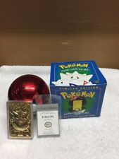 1999 Pokémon Togepi 23 K Gold Plated Trading Card In PokeBall And Box