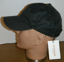 STETSON baseball cap hat NEW polyester faux leather look DARK BROWN