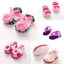 Bebé Recién Nacido para niña de ganchillo Calcetines Cuna flor zapatos de diario