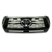 Genuine Parts Front Grille Grey Black Grey Fits Toyota Hilx Revo Rocco 2018 19