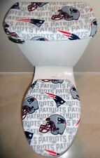 NFL NEW ENGLAND PATRIOTS Fleece Toilet Seat Cover Set Bathroom Accessories