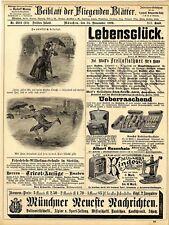 50.Jahrfeier Friedrich Wilhelms-Schule Stettin Pat. Kinder Nähmaschine Arosa1889