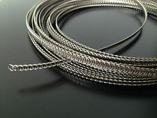 "72"" spiral wire boning metal steel 1/4"" for corset wedding dresses + 2 cover"