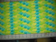Quilt, Sew, Fabric - 1 3/8 YDS Michael Miller Shell-O Kitty Turq/Lime