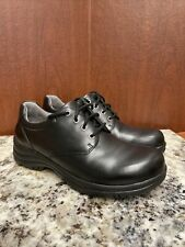 Dansko Mens WALKER Black Smooth Leather Oxford Shoes Sz 44 / US 10.5 11
