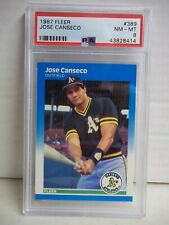 1987 Fleer Jose Canseco PSA NM-MT 8 Baseball Card #389 MLB