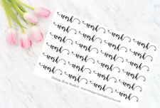 Work Customisable Planner Stickers Word Script for All Planner Types EC