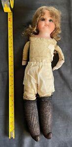 Armand Marseille Doll - Porcelain Leather - Ruth 14/0 - Antique
