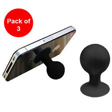 Pack of 3 Bluechip Universal Rubber Suction Ball Stand for Galaxy S6 Edge + LG4