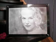 NICOLE KIDMAN PENCIL DRAWING SIGNED ARTIST UNKNOWN PERSPEX FRAME LARGE GORGEOUS