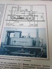Bahn Lokaufrisse Dampf Personenzug 21 pr. T1 2/2 Omnibus TL Bauart Lentz 1880