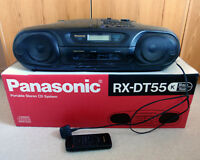 PANASONIC RX-DT55 BLACK GHETTO BLASTER BOOM BOX CD CASSETTE RADIO - USED
