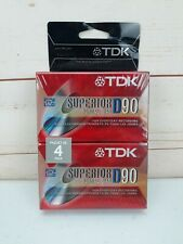 BRAND NEW 4 Pack TDK Superior D90 Normal Bias Blank Audio Cassette Tapes Lot