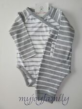 HANNA ANDERSSON Organic Crossover Creeper Tee Wiggle Pant Set Grey 70 9-18 m NWT