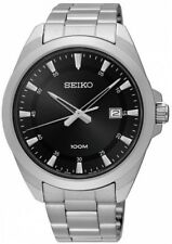 SEIKO SUR209P1 Date Black Dial WR 100m Men's Analogue 2 Year Guar  RRP £199.00
