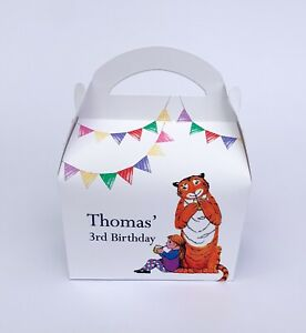 Tiger Came To Tea Personalised Children Party Boxes Gift Favour