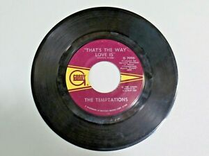 Vtg. Vinyl 45 Record THE TEMPTATIONS Psychedelic Shack / That's The Way Love Is