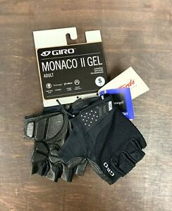 Giro Monaco II Gel Cycling Gloves Black Size Small New