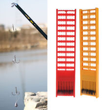 Fishing Rig Board Plastic Double Side Spring Hooks Storage Catch Holder Random
