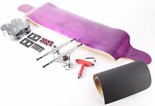 "41"" Blank Purple Drop Down Longboard with Black wheels Complete Kit"