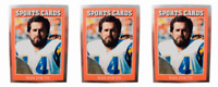 (3) 1991 Sports Cards #13 Dan Fouts Football Card Lot San Diego Chargers