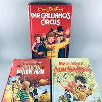 Vintage 1980s Enid Blyton 3 Book Hardback Set inc The Children Of Willow Farm ++