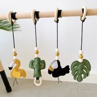 Wool Felt Animal Baby Teething Activity Play Gym Toys Pram Rattles Nursery Decor