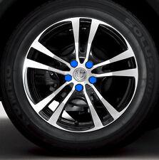 BLUE   wheel nut bolt covers caps 20pcs Gel  silicon caps dust cap protector