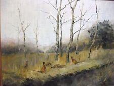 Feld Jagd Fasan Jäger Rudolf Herrenkind Birken Wald Mohr Sumpf Gemälde Bild