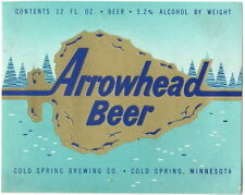 Arrowhead Beer12oz Cold Spring Brewery 3.2% Alcohol Cold Spring MN Tavern TRove