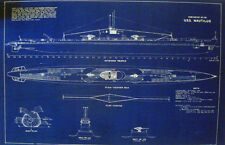 "Ships Plan USN Diesel Sub USS NAUTILUS SS168-N2 WW2 Blueprint 20""x32"" (051)"