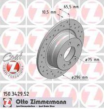 arrière BMW e81 118d 136 CH Zimmermann Disques de frein garnitures avant
