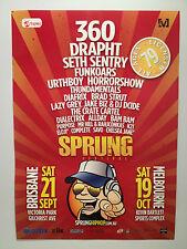 SPRUNG HIP HOP FESTIVAL 2013 Poster A2 SETH SENTRY 360 DRAPHT Brisbane Melbourne