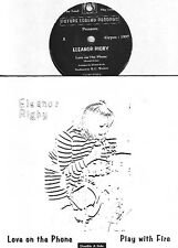 ELEANOR RIGBY love on the phone - play with fire 45 UK PS 80s MOD oop L@@K