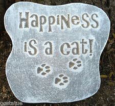 Cat plaque mold garden ornament stepping stone mould