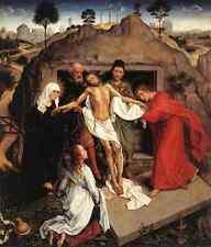Weyden Entombment Of Christ 1450 A4 Print