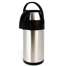 3L airpot flask tea coffee drinks hot cold pump action air pot new 3 litre