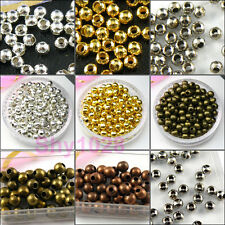 Metal Round Spacer Beads 2.4mm,3.2mm,4mm,5mm,6mm,8mm Silver,Gold,Bronze R5089