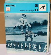 Barrel jumping Skating winter sports Collector card