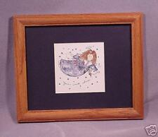"""Framed Americana Style Angel """"You're Not Alone""""9.5x11.5"""
